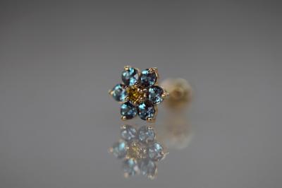ゴールデンイエローダイヤモンド × アレキサンドライト