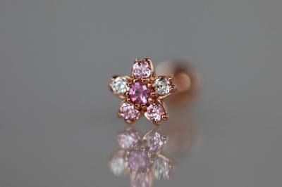 ピンクサファイヤ × ピンクジルコニア × キュービックジルコニア