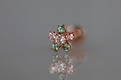 ダイヤモンド VS1 × 天然アレキサンドライト × ピンクダイヤモンド