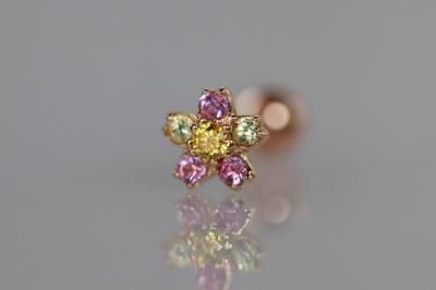 イエローダイヤモンド × ピンクサファイア × ペリドット