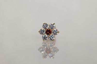 オレンジダイヤモンド × キュービックジルコニア
