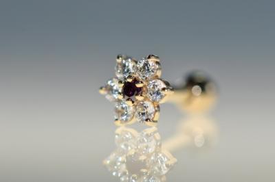 パープルダイヤモンド × キュービックジルコニア