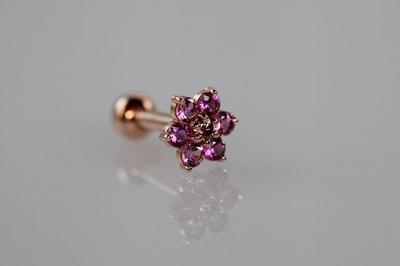 ピンクダイヤモンド × ピンクトルマリン × ルビー