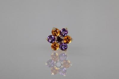 パープルダイヤモンド × アメシスト × シトリン