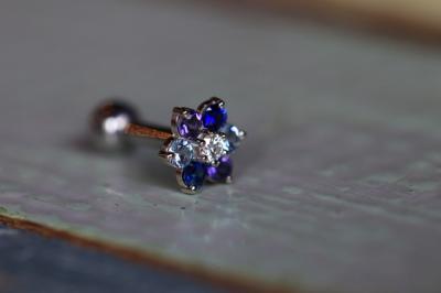 ダイヤモンド × ブルーサファイア × アイオライト × アクアマリン