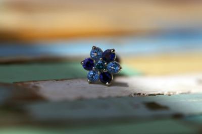 オーシャンブルーダイヤ × ブルーサファイア × ブルートパーズ