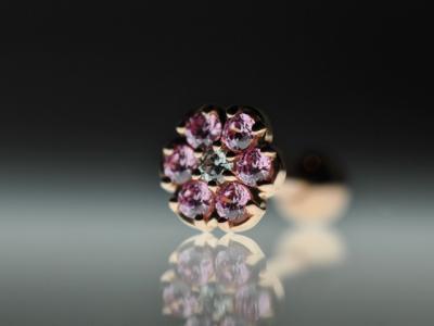 ダイヤモンド × ピンクジルコニア