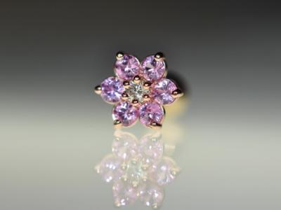 ピンクサファイア × ダイヤモンド VVS-E