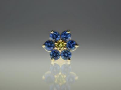 ゴールデンイエローダイヤモンド × ブルーサファイア