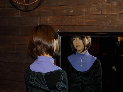 鏡に映った私