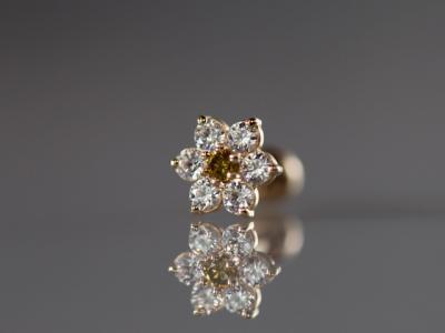 イエローダイヤモンド × キュービックジルコニア