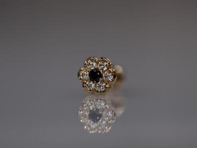ブラックダイヤモンド × キュービックジルコニア