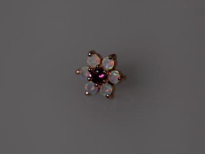 ピンクトルマリン × ミルキーオパール