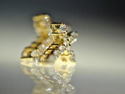 18K ダイヤモンドクロスチャーム
