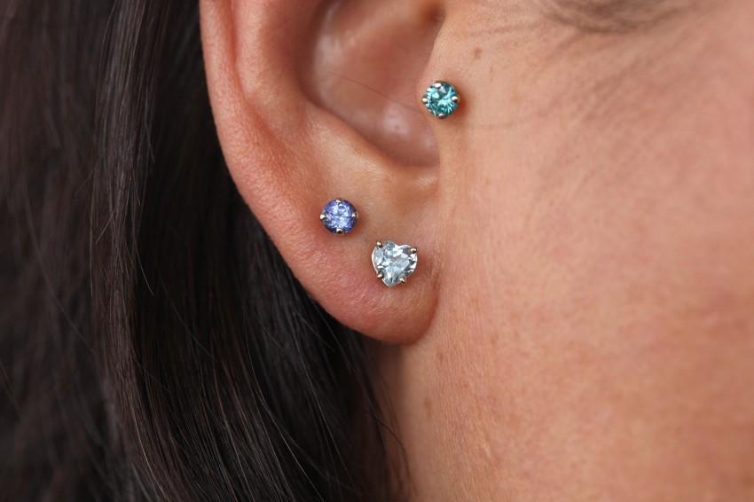 スカイブルートパーズ × タンザナイト × オーシャンブルーダイヤモンド