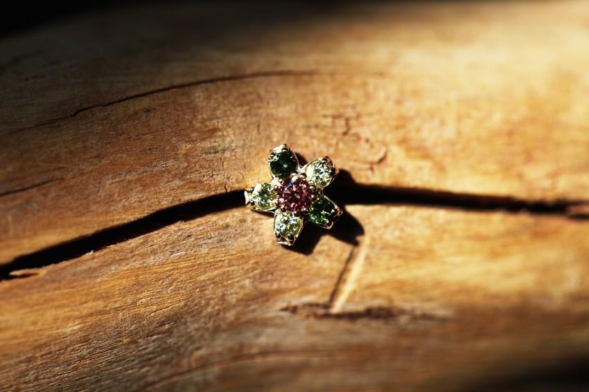アイスピンクダイヤモンド × グリーントルマリン × ペリドット
