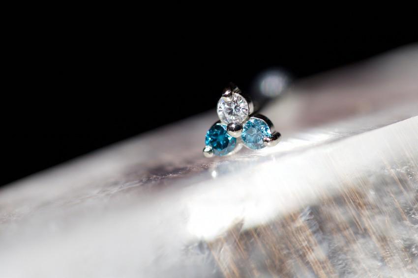 ダイヤ  × アイスブルーダイヤ × オーシャンブルーダイヤ