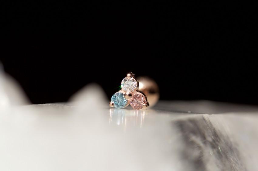 ダイヤ × アイスピンクダイヤ × アイスブルーダイヤ
