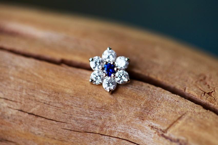 ブルーサファイア × ダイヤモンド VVS-E