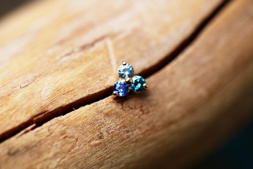 アクアマリン × オーシャンブルーダイヤモンド × ブルーサファイア