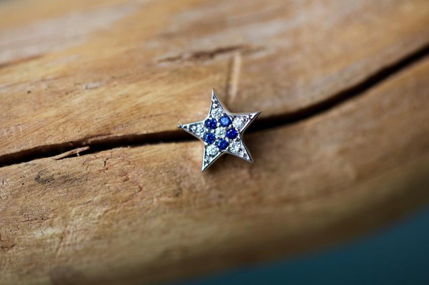 ダイヤモンド × ブルーサファイア