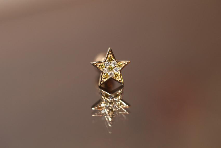 カナリーイエローダイヤモンド × ダイヤモンド