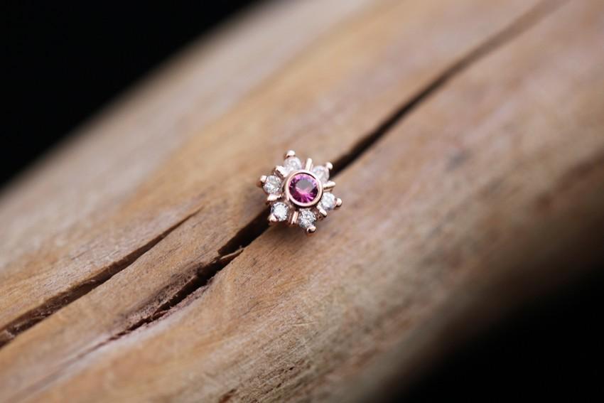 ピンクトルマリン × ダイヤモンド VS
