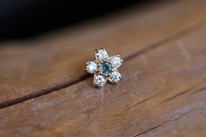アレキサンドライト × ダイヤモンド