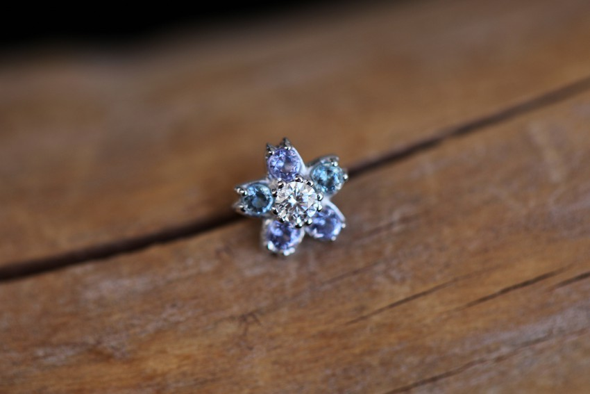 ダイヤモンド × タンザナイト × アクアマリン
