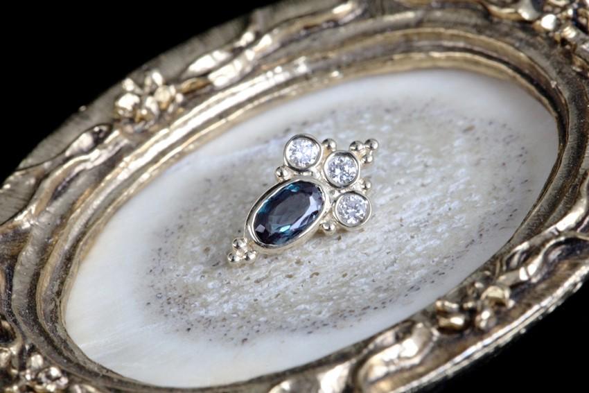 ダイヤモンド × 天然アレキサンドライト