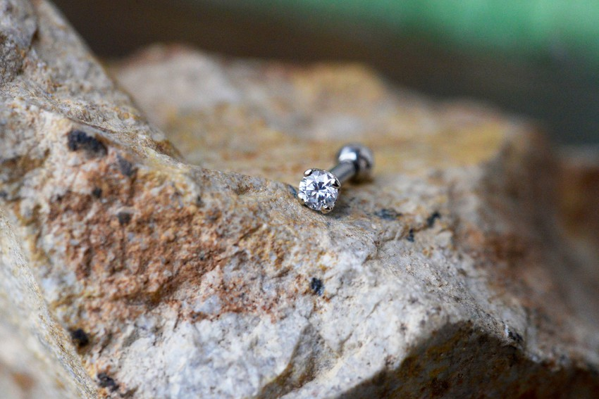 14K WG プロング 3ミリ ダイヤモンド VS-F