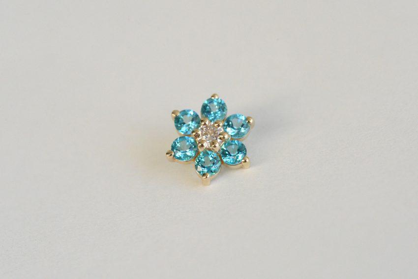 ダイヤモンド × パライバブルートパーズ