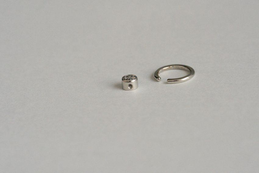 プラチナ台座のダイヤモンド