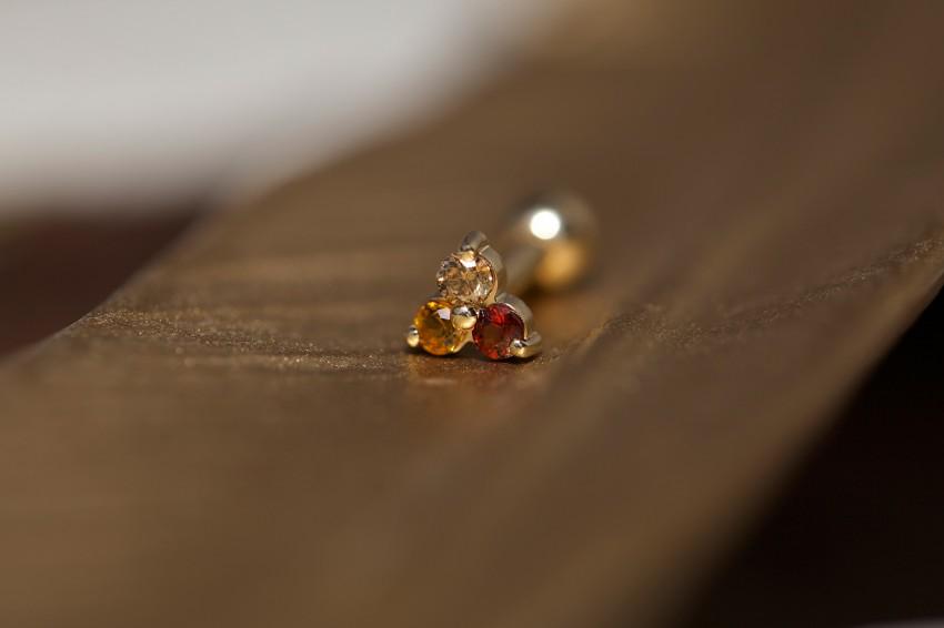 ブラウンダイヤモンド × ガーネット × シトリン