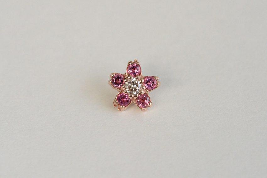 ダイヤモンド × ピンクトルマリン