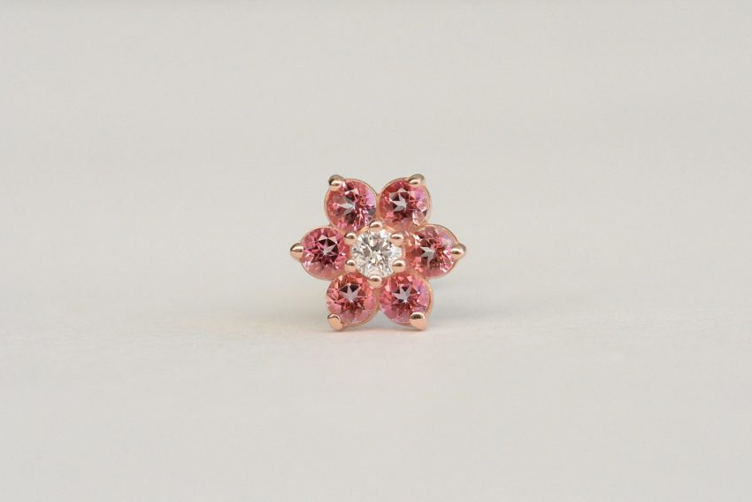 ダイヤモンド × ピンクトパーズ